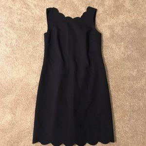 J crew scalloped dress